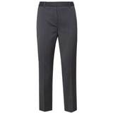 NWT THEORY dress pants 6 career slacks tailored trousers black wool stripe $355