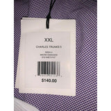 ONIA XXL 2XL Charles swim trunks lined purple micro gingham check men's