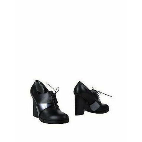 JIL SANDER 37 platforms lace up oxfords heels shoes leather black career-Clothing, Shoes & Accessories:Women's Shoes:Heels-Jil Sander-Black-37-Jenifers Designer Closet