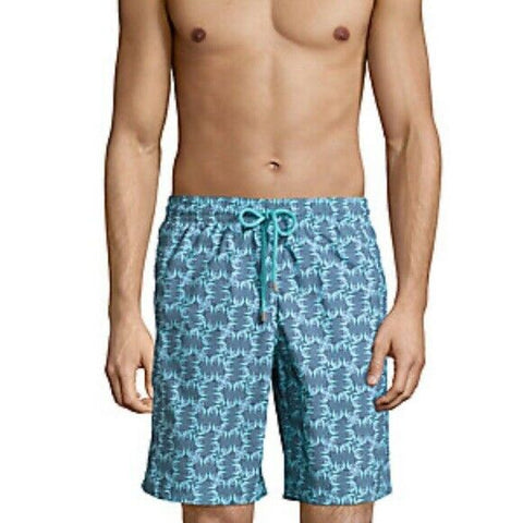 VILEBREQUIN XXL (36- 38) swim trunks Okoa longer length men's swimsuit fish - Jenifers Designer Closet