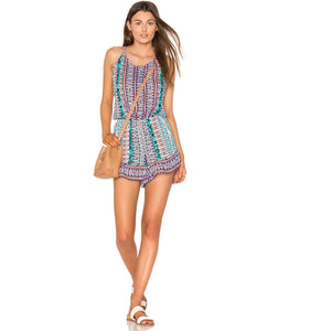 NANETTE LEPORE shorts romper swimsuit cover up open back tassel ties