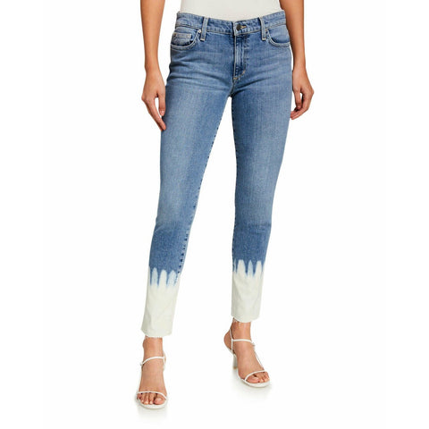 JOE'S JEANS 27 bleach dipped skinny ankle jeans mid rise icon $178-Clothing, Shoes & Accessories:Women:Women's Clothing:Jeans-Joe's Jeans-Jenifers Designer Closet