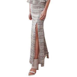 NWT STEVIE MAY Maxi Skirt Small long mermaid style high front split $260 viper