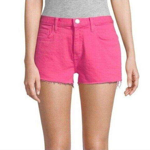 CURRENT/ELLIOTT 23 the boyfriend cutoff denim shorts fandango pink $178-Clothing, Shoes & Accessories:Women's Clothing:Shorts-Current/Elliott-23-Pink-Jenifers Designer Closet