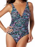 MAGICSUIT MIRACLESUIT 10 swimsuit slimming ruched one piece gypsy presley - Jenifers Designer Closet