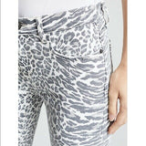 NWT CURRENT ELLIOTT 23 The Stiletto Warped Leopard Jeans skinny jeggings $228