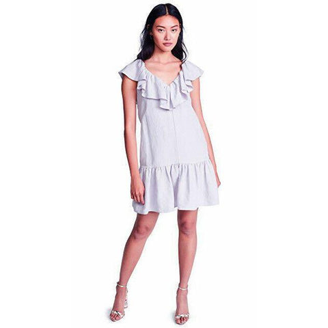 NWT REBECCA TAYLOR 2 ruffled linen dress lavender $395 church wedding career-Clothing, Shoes & Accessories:Women:Women's Clothing:Dresses-Rebecca Taylor-Jenifers Designer Closet