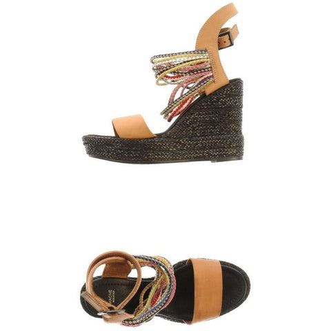 HACHE Italy 40 heels platforms wedges sandals shoes ankle strap strappy $325-Clothing, Shoes & Accessories:Women's Shoes:Heels-Hache-Jenifers Designer Closet