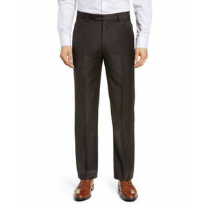 ZANELLA 32 Dk Brown wool dress pants trousers Italy $375 David slacks men's-Clothing, Shoes & Accessories:Men:Men's Clothing:Pants-Zanella-32-Brown-Jenifers Designer Closet