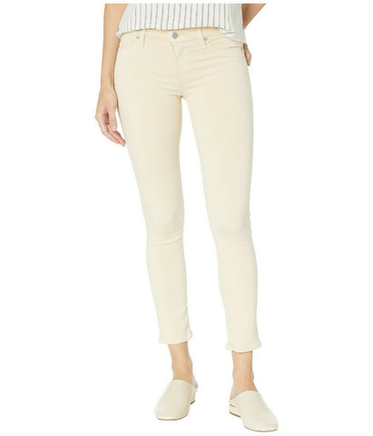 HUDSON Jeans 30 skinny fawn beige Tally cropped pants mid-rise