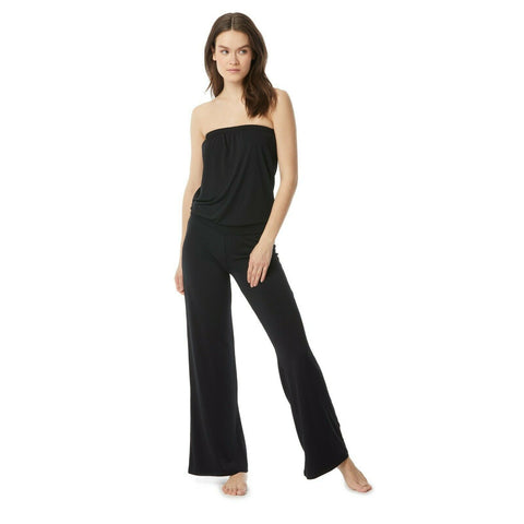 CARMEN MARC VALVO SM jumpsuit swimsuit coverup black strapless bandeau-Clothing, Shoes & Accessories:Women's Clothing:Jumpsuits & Rompers-Carmen Marc Valvo-Small-Black-Jenifers Designer Closet