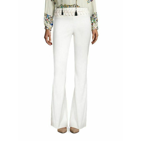 DEREK LAM 2 lace-up waist pants flare trouser soft white 10 Crosby stretch-Clothing, Shoes & Accessories:Women's Clothing:Pants-Derek Lam-2-White-Jenifers Designer Closet