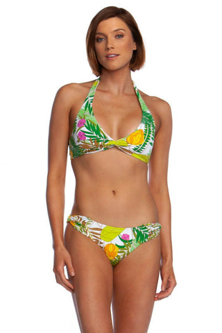 TRINA TURK halter 10 twist 2-piece bikini swimsuit tropical hawaiian banana - Jenifers Designer Closet