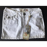LAGUNA BEACH JEANS Co. 25 Denim White Mini Skirt short-Skirts-Laguna Beach-25-White-Jenifers Designer Closet