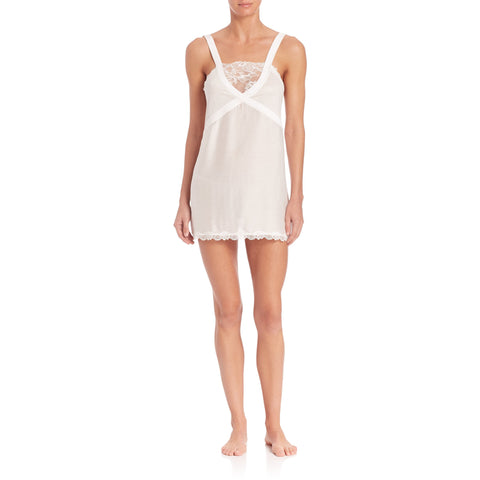 LA PERLA lace US- L IT-4 babydoll gown chemise bridal wedding $534 white-Sleepwear & Robes-La Perla-Large-White-Jenifers Designer Closet