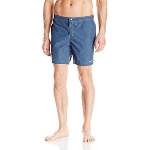 MR. SWIM L swim trunks board shorts swimsuit men's blue heathered hybrid-Swimwear-Mr. Swim-Large-Blue heathered-Jenifers Designer Closet