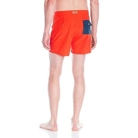 PULLIN Tzar 36 swim trunks board shorts France Pull-In XL swim men's-Swimwear-PULLIN-36-Orange/Navy-Jenifers Designer Closet