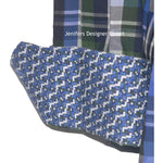 ROBERT GRAHAM shirt blue green white plaid /contrast cuffs men's-Robert Graham-Jenifers Designer Closet