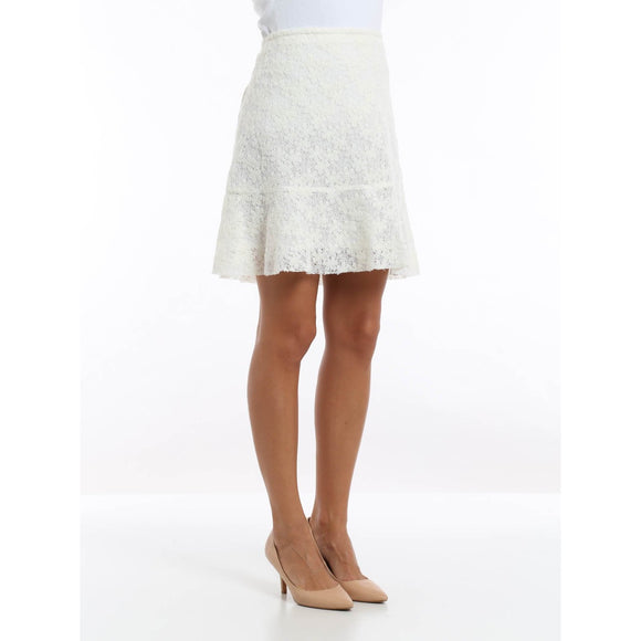 SEE by CHLOE trapeze skirt lace 40 4 off-white lined mini felted $359 soft