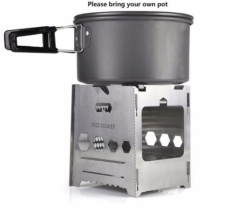 Stainless Steel Outdoor Stove For Camping Hiking