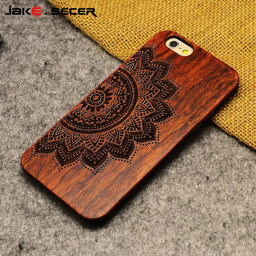 Luxury Hard Wooden Case Cover