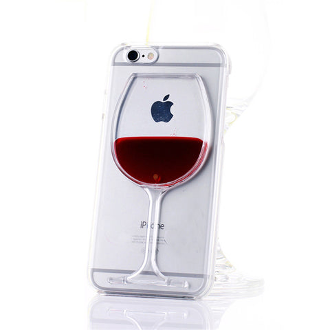 Red Wine In a Glass - Transparent Case