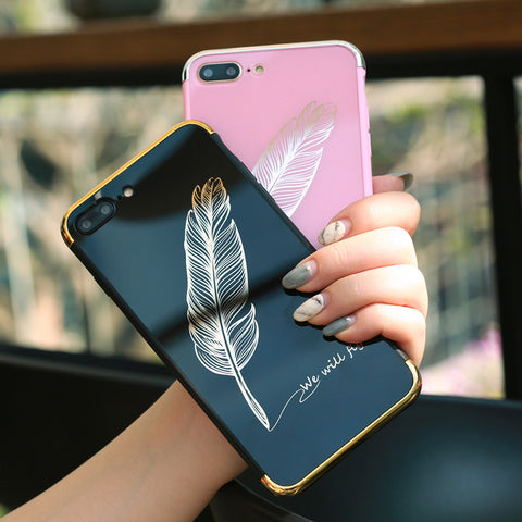 We Will Fly Feather Mirror case