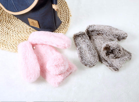 Soft Warm Rabbit Furry Phone Cases