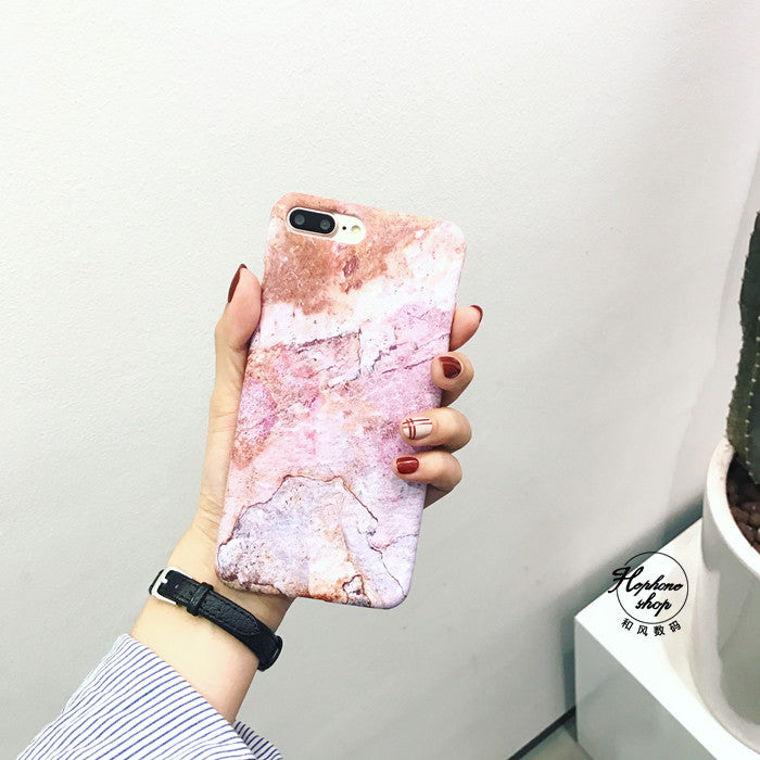 Simple art marble hard shell case-US