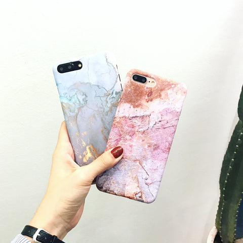 Simple art marble hard shell case