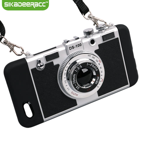 Camera Style Shockproof Phone Case + Comes with lanyard!