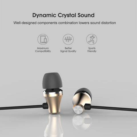 Gold Earbuds with inline Microphone