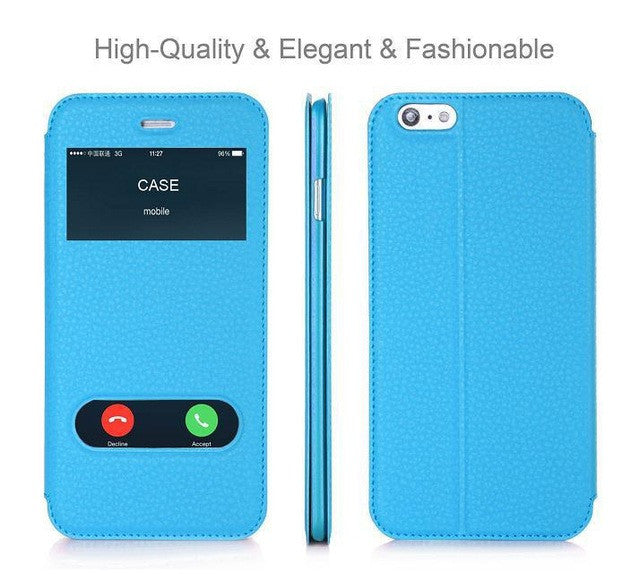 Luxury PU Leather Flip Wallet Case Cover With Kickstand