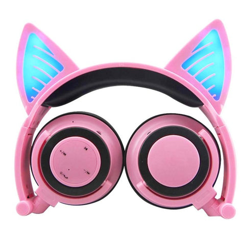Cat Ear Bluetooth Headphones with a built-in Mic