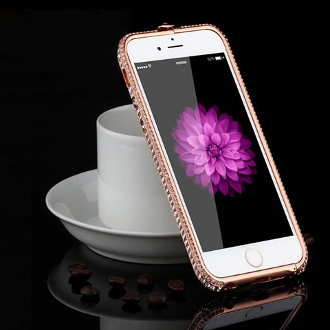 Luxury Aluminum Frame Rhinestone Phone Cases