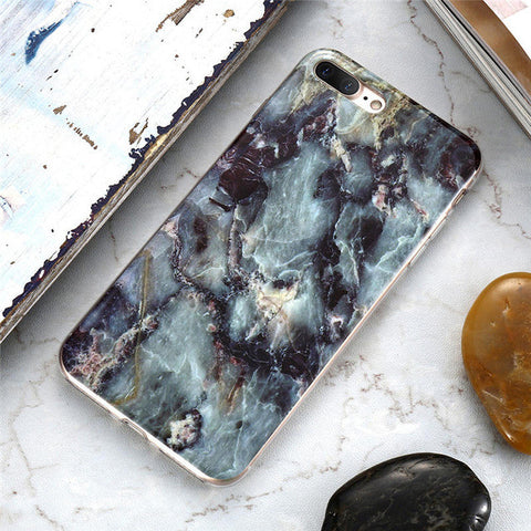 Marble Stone Case Soft Silicone