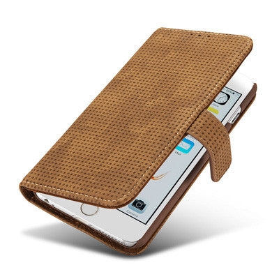 Luxury Retro Flannelette Wallet Case-US