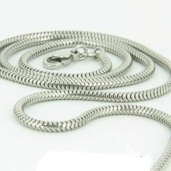 "24"" Sterling Silver Snake Chain"