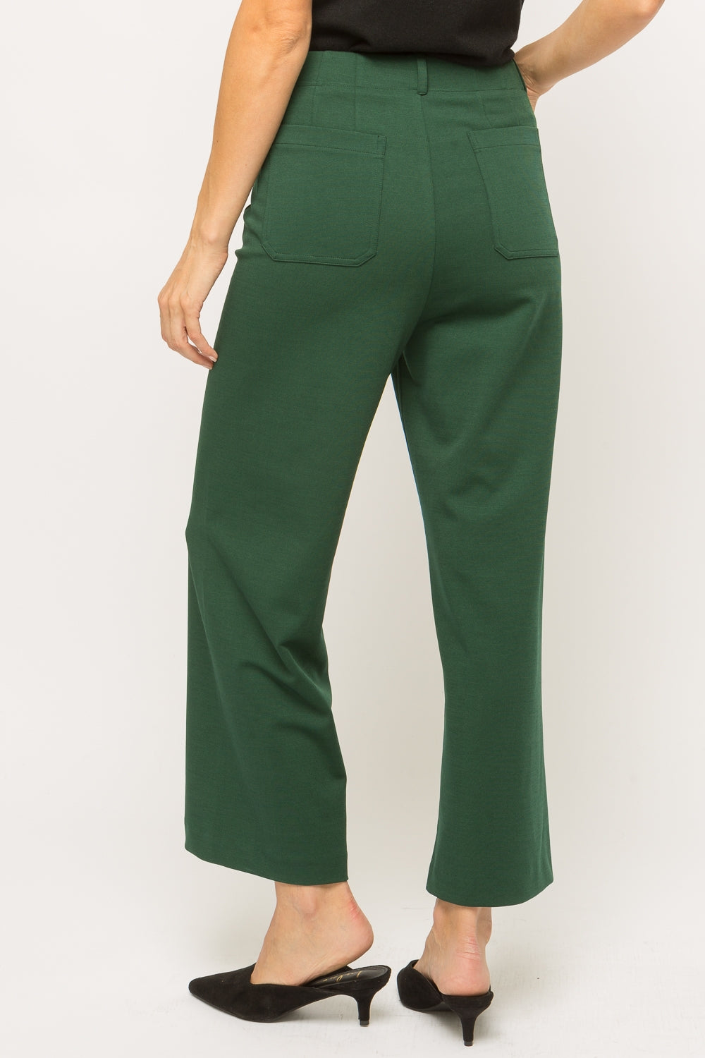 Cropped wide leg trouser