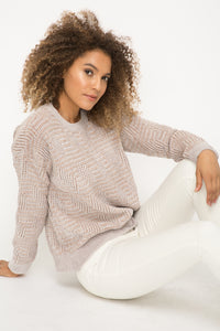 Soft chenille pullover sweater
