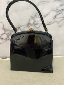 Black Patent Purse - Vintage