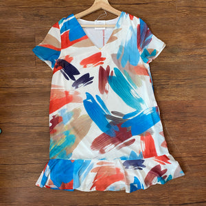 Off White Brush Stroke Dress