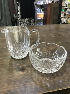 Crystal Creamer & Sugar Set by Blarney - Vintage
