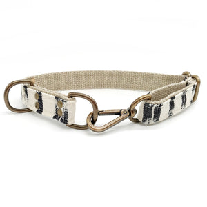 White + Black Dog Collar