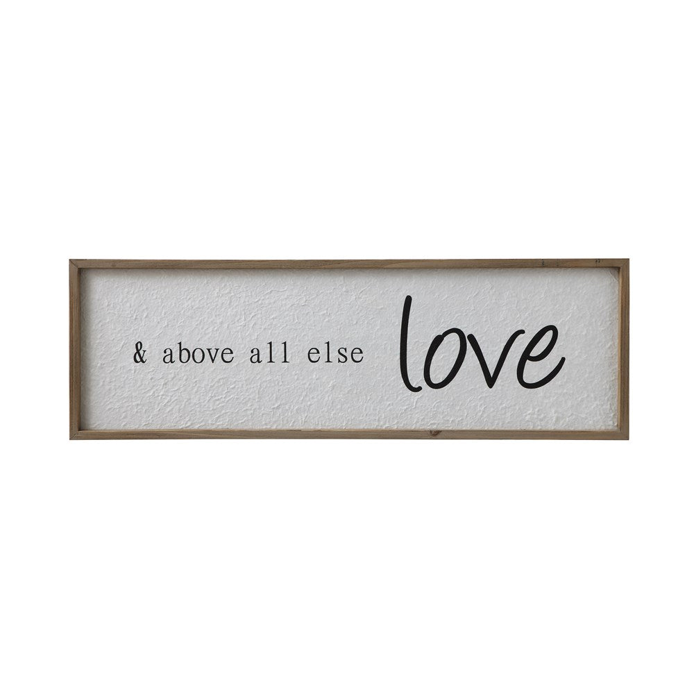 & Above All Else Love Wood Framed Wall Decor