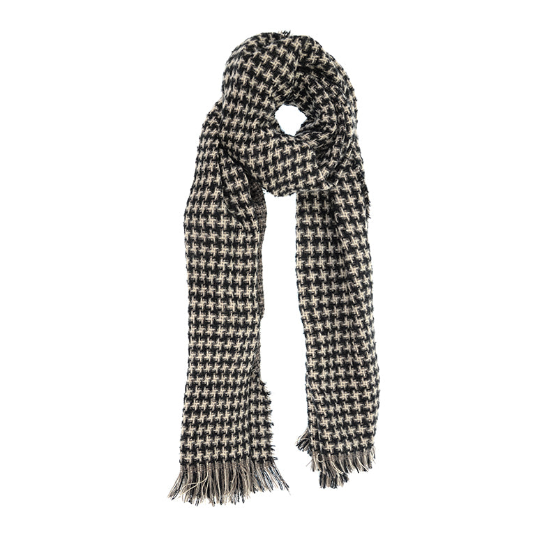 Black Houndstooth Scarf