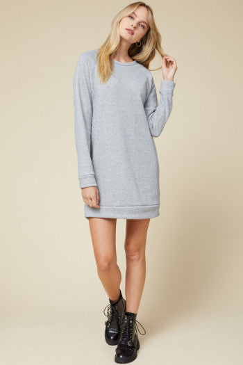 Round Neck Sweater Dress