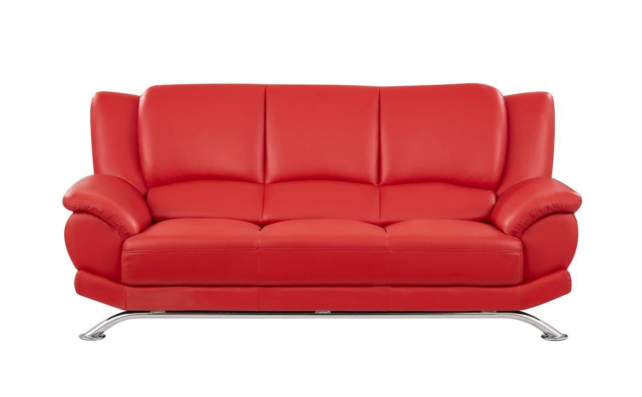 Red living room set sofa loveseat chair