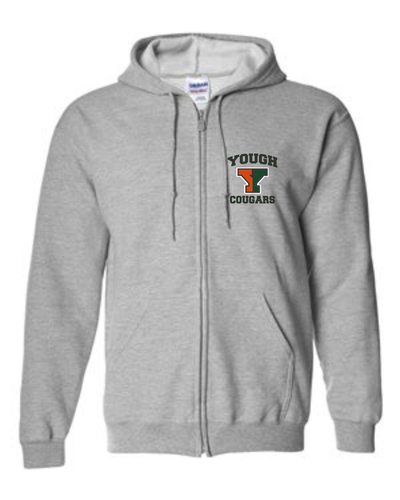 Yough Cougars Embroidered Zip Hoodie