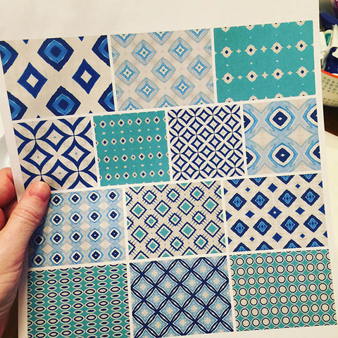 Amy Lighthall, pattern collection, surface design, print, pattern, indigo art